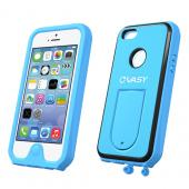 VASY Sky Blue Apple iPhone 5/5S Waterproof/ Dustproof/ Dirt Proof Protective Hard Case w/ Kickstand & Lanyard - Perfect Alternative to LifeProof!
