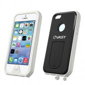VASY White Apple iPhone 5/5S Waterproof/ Dustproof/ Dirt Proof Protective Hard Case w/ Kickstand & Lanyard - Perfect Alternative to LifeProof!