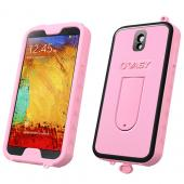 VASY Baby Pink Samsung Galaxy Note 3 Waterproof/ Dustproof/ Dirt Proof Protective Hard Case w/ Kickstand & Lanyard - Perfect Alternative to LifeProof!