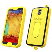 VASY Yellow Samsung Galaxy Note 3 Waterproof/ Dustproof/ Dirt Proof Protective Hard Case w/ Kickstand & Lanyard - Perfect Alternative to LifeProof!