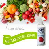 Vege AQUA 100% Natural Premium Quality Produce, Fruit, and Vegetable Wash, Uses No Detergents, Oils, or Preservatives [16.7 OZ.]
