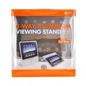Original Macally Apple iPad (1st Gen) 1st 4-Way Aluminum Viewing Stand, VIEWSTAND - Grey