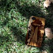 TPhone Eco-Design AT&T/ Verizon Apple iPhone 4, iPhone 4S 100% Teak Hard Wood Back Cover Case w/ Screen Protector - Wolf Prey [ENGRAVING]