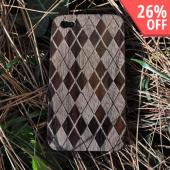 Exclusive TPhone Apple Verizon/ AT&T iPhone 4, iPhone 4S 100% Hard Wood Back Cover Case - Sonokeling Black Wood (Argyle Design)