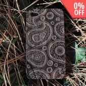 Exclusive TPhone Apple Verizon/ AT&T iPhone 4, iPhone 4S 100% Hard Wood Back Cover Case - Sonokeling Black Wood (Paisley Design)