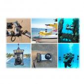 Waterproof Bundle Package - Dicapac WP-D10 Waterproof Camcorder Case w/ Soft Lens & Stereo Earphone Headset - (Traveller Combo)