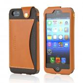 Dark Brown Wetherby Premium Bar Series Handcrafted Leather Case w/ ID Slot for Apple iPhone 5