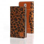 Brown Leopard Wetherby Premium Basic Series Handcrafted Leather Case Wallet w/ ID Slots for Samsung Galaxy Note 3