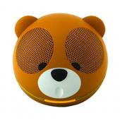 Original GameOn Audio Universal Portable Battery/ USB Powered Speaker (3.5mm) - Brown/ White/ Black Teddy Bear