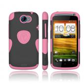 Original Trident Aegis HTC One S Hard Cover Over Silicone Case w/ Screen Protector, AG-VILLE-PK - Pink/ Black