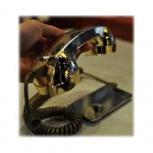 Original YUBZ Retro Handset, YH06GD-02-TB - Gold (3.5mm)