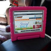 Hot Pink Ziotek Impact-Resistant Foam Bump Case w/ Handle for iPad 2/3/4