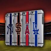Apple iPhone 6/6S (4.7 inch) Sports Case, [Los Angeles Dodgers] Hydroclear Ultra-Slim 3D UV Printed Textued Hard Back Case w/ TPU Border